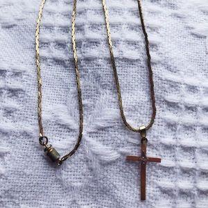 Simple vintage cross necklace